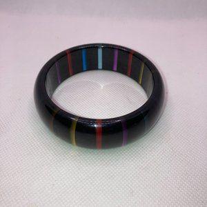 Vintage Acrylic Bracelet with Translucent Rainbow